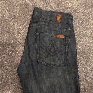 7 for all mankind 'A' pocket jeans in size 24
